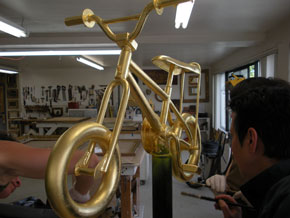 Gold Bicyle